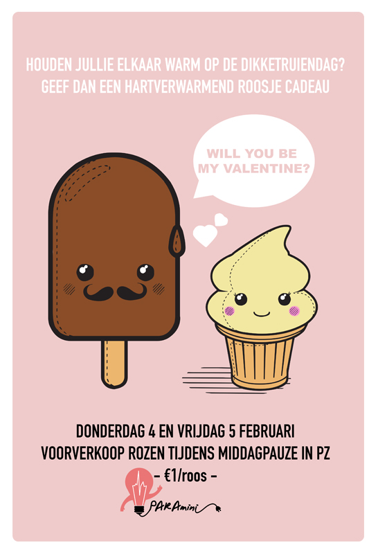 Will You Be My Valentine Deze Week Rozenverkoop Patat